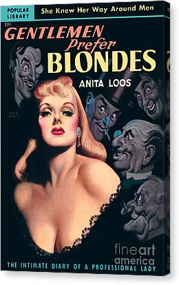 Canvas Print featuring the painting Gentlemen Prefer Blondes by Earle Bergey