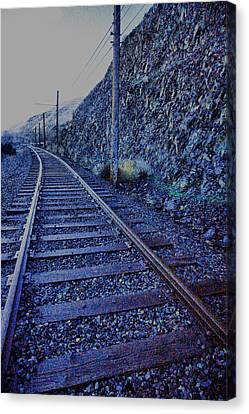 Canvas Print featuring the photograph Gently Winding Tracks by Jeff Swan