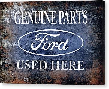 Genuine Ford Parts Canvas Print by Mark Rogan