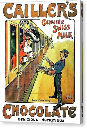 Genuine Swiss Chocolate Canvas Print by Long Shot