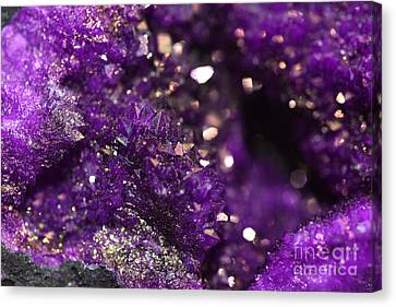 Geode Abstract Amethyst Canvas Print