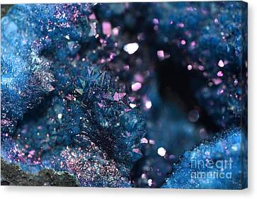 Geode Abstract Teal Canvas Print