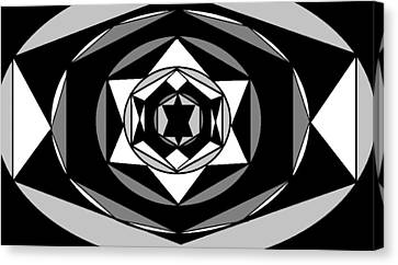 'geometric 1' Canvas Print by Linda Velasquez