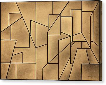 Geometric Abstraction IIi Toned Canvas Print by David Gordon