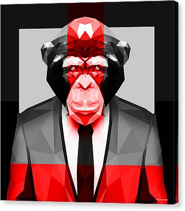 Geometric Ape Canvas Print by Gallini Design