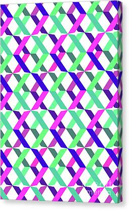 Geometric Crosses Canvas Print by Louisa Knight