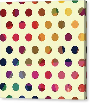 Geometric Dots Canvas Print by Carla Bank
