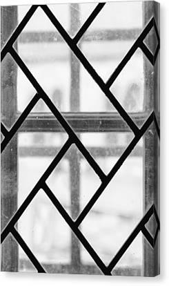 Geometric Glasswork Canvas Print by Christi Kraft