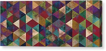 Geometric Jupiter Panoramic Canvas Print