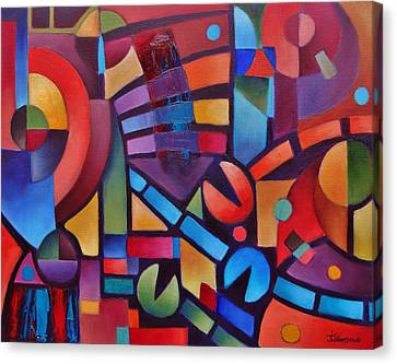 Geometric Music Canvas Print by Jason Williamson
