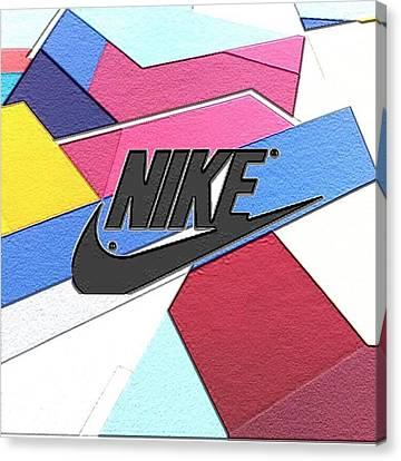 Geometric Nike Cover Canvas Print by Dekai Youmans