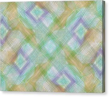 Geometric Pattern Canvas Print by Gina Lee Manley