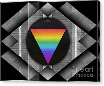 Geometric Pride Canvas Print by Sue Gardiner