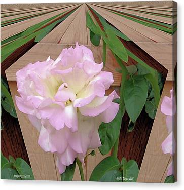 Geometric Rose Canvas Print by Angie Baker