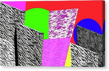 Geometric Shapes 1 Canvas Print by Bruce Iorio