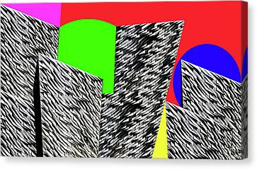 Geometric Shapes 4 Canvas Print by Bruce Iorio