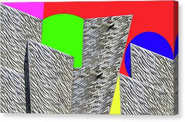 Geometric Shapes Canvas Print by Bruce Iorio