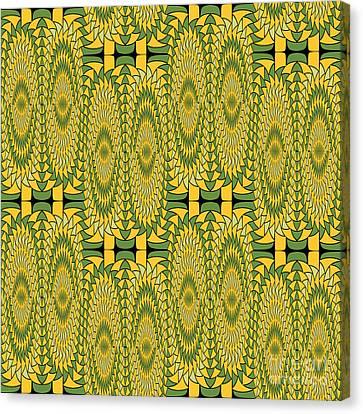 Geometric Sunflowers Canvas Print by Gaspar Avila