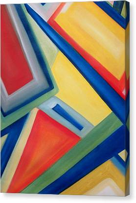 Canvas Print featuring the painting Geometric Tension Series IIi by Patricia Cleasby