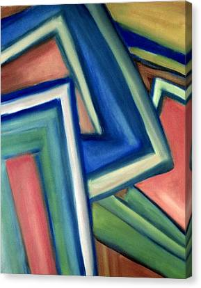 Canvas Print featuring the painting Geometric Tension Series Iv by Patricia Cleasby