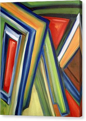 Canvas Print featuring the painting Geometric Tension Series V by Patricia Cleasby