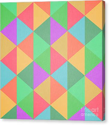 Geometric Canvas Print - Geometric Triangles Abstract Square by Edward Fielding