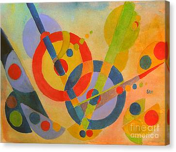 Geometry Canvas Print by Sandy McIntire