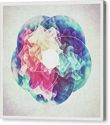 Geometry Triangle Wave Multicolor Mosaic Pattern Hdr   Low Poly Art  Canvas Print
