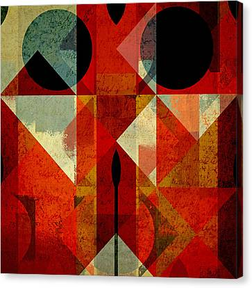Geomix-04 - 39c3at22g Canvas Print by Variance Collections