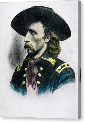George Armstrong Custer 1839 To 1876 Canvas Print by Vintage Design Pics
