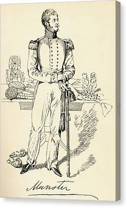 George Augustus Frederick Fitzclarence Canvas Print by Vintage Design Pics