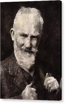 George Bernard Shaw Author Canvas Print by Mary Bassett