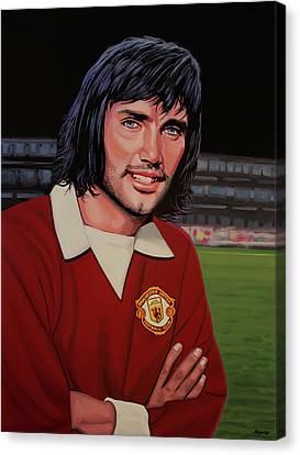 Cork Canvas Print - George Best Painting by Paul Meijering