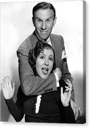 George Burns And Gracie Allen, 1936 Canvas Print by Everett