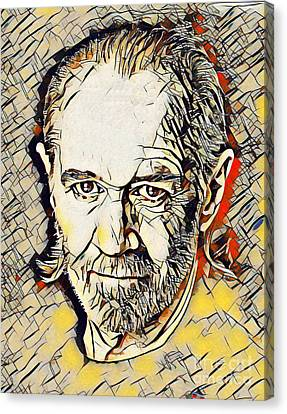 George Carlin Abstract Canvas Print