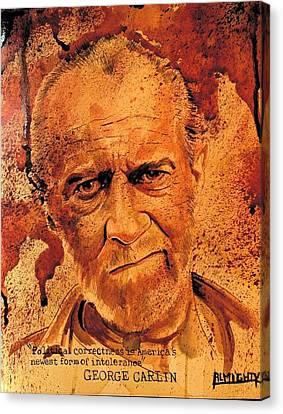George Carlin Fresh Blood Canvas Print