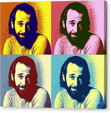 George Carlin Pop Art Poster Canvas Print