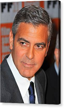 George Clooney At Arrivals For The Canvas Print by Everett