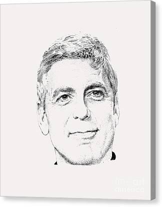 George Clooney  Canvas Print by Herb Strobino