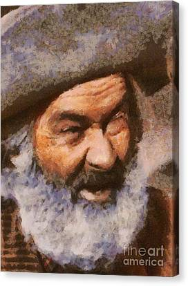 George Gabby Hayes, Vintage Western Legend Canvas Print by Mary Bassett