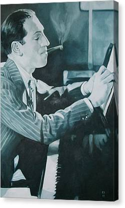 George Gershwin 1930s. Canvas Print by Kevin Hopkins