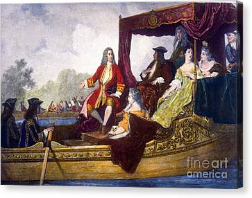 George Handel And King George I Canvas Print by Science Source