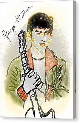 George Harrison - 3 Canvas Print by GooDaCool Gallery