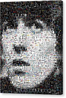 George Harrison Mosaic Canvas Print by Paul Van Scott