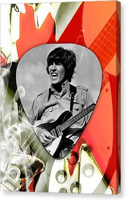 George Harrison The Beatles Art Canvas Print by Marvin Blaine