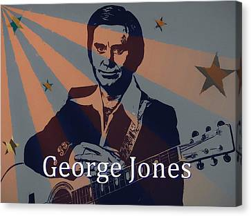 Lightning D Canvas Print - George Jones Poster by Dan Sproul