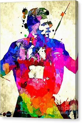 Michael Canvas Print - George Michael Grunge by Daniel Janda