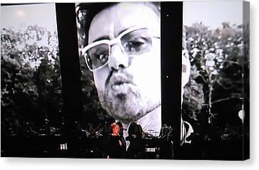 George Michael Sends A Kiss Canvas Print by Toni Hopper