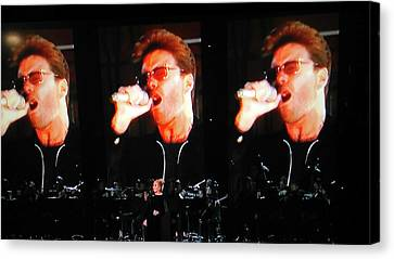 George Michael The Passionate Performer Canvas Print by Toni Hopper