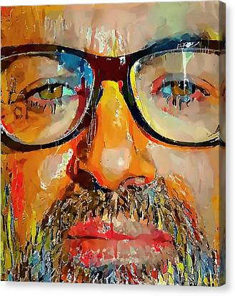 Sightseeing Canvas Print - George Michael Tribute 2 by Yury Malkov